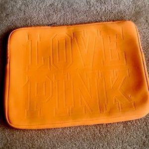 Love Pink laptop case.